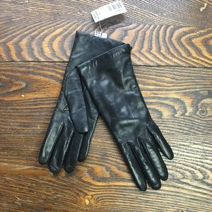 Saks Fifth Avenue Cashmere Lined Leather Gloves